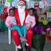 Twins meet Father Christmas