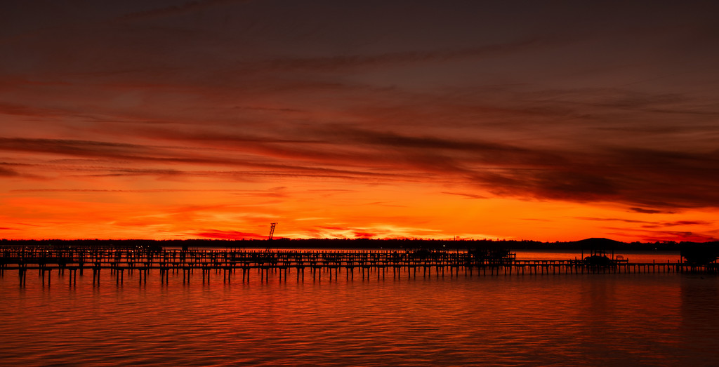 Tonight's Sunset Over the Pier's! by rickster549