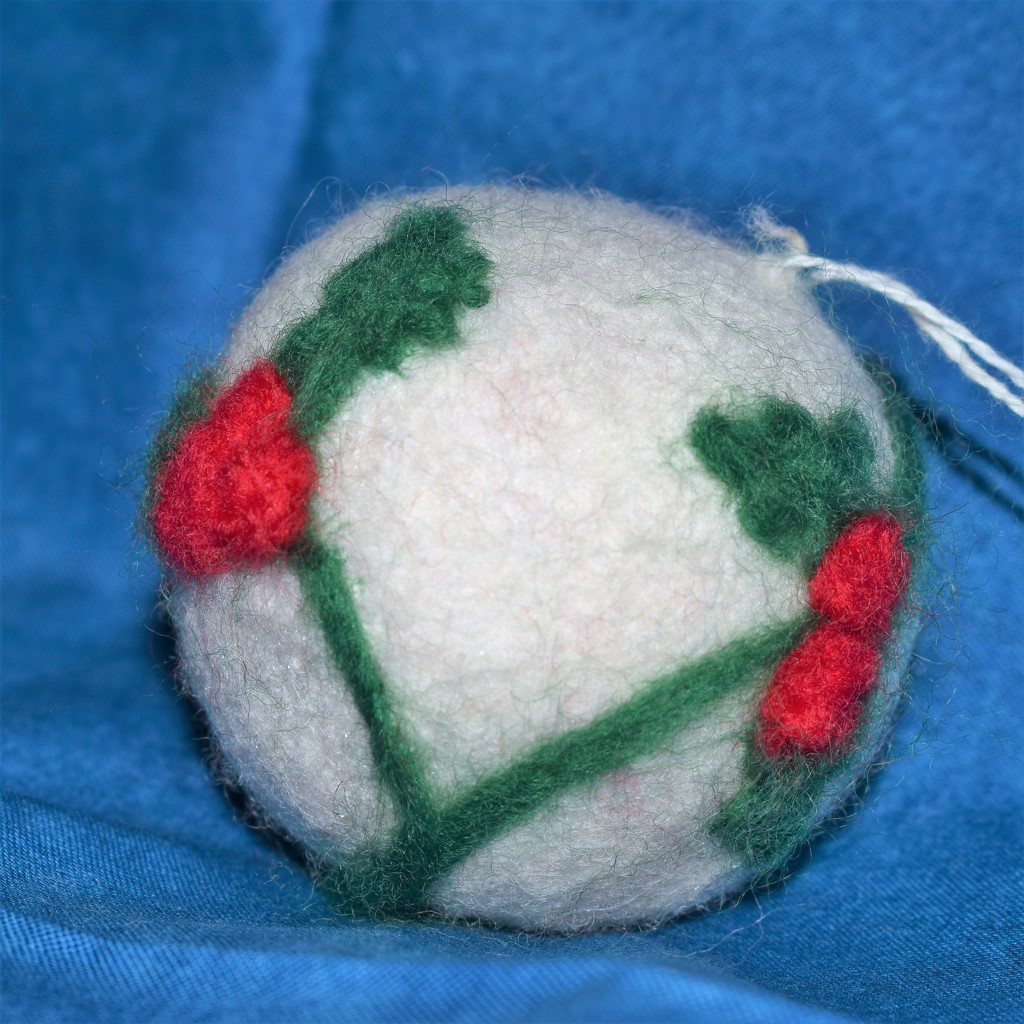 Felted ornament by sandlily