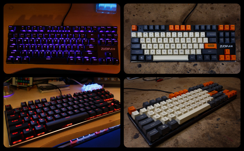 Mechanical 87 Key Keyboard, Retro Makeover. by batfish