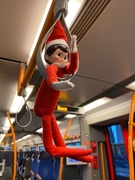 10th Dec 2019 - Elf now swinging about on a train