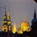 The towers of Budapest in the evening by kork