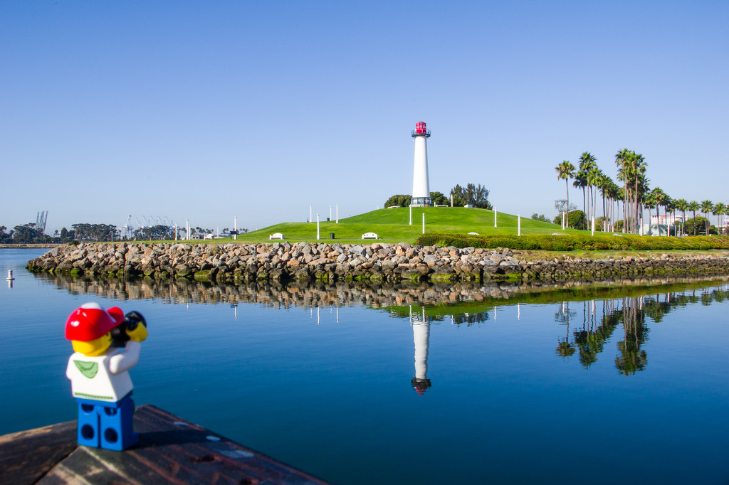 (Day 302) - Reflection at the Lighthouse by cjphoto