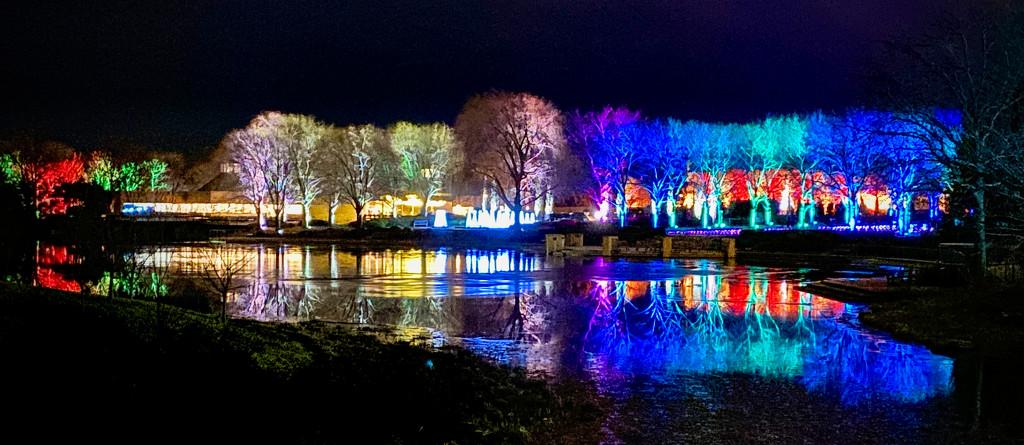 Holiday Lights Across the Lake by jyokota