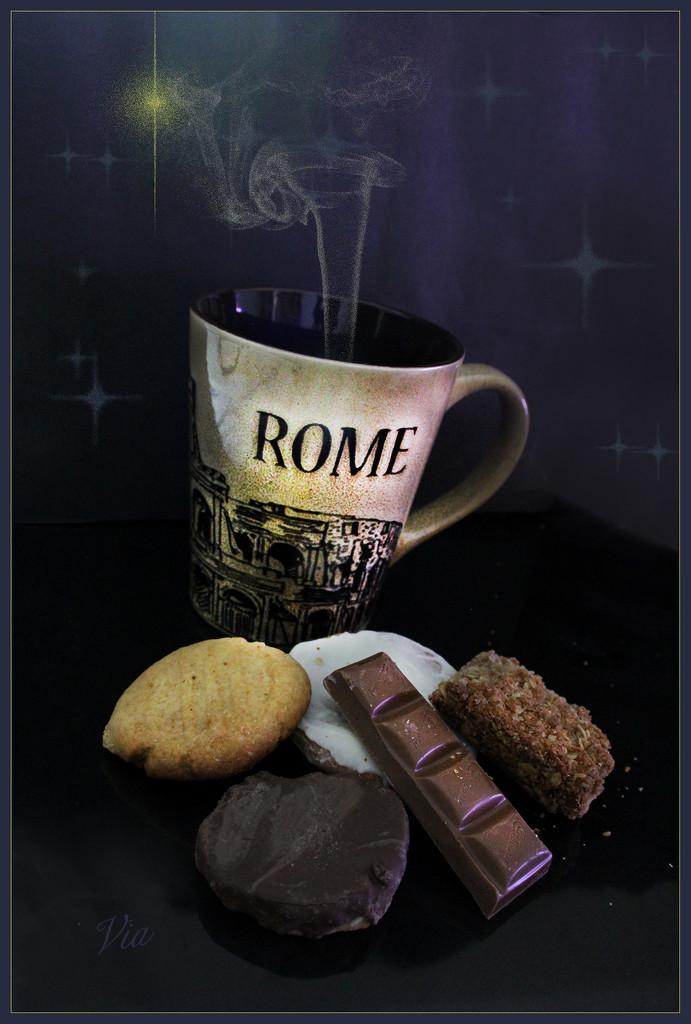 Last stop coffee in Rome... (Best on black) by sdutoit