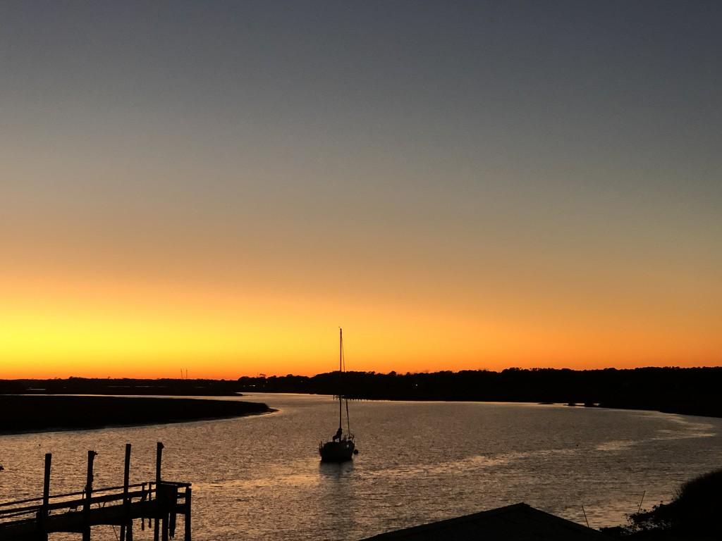 Sunset on Bowen's Island near Charleston, SC by congaree