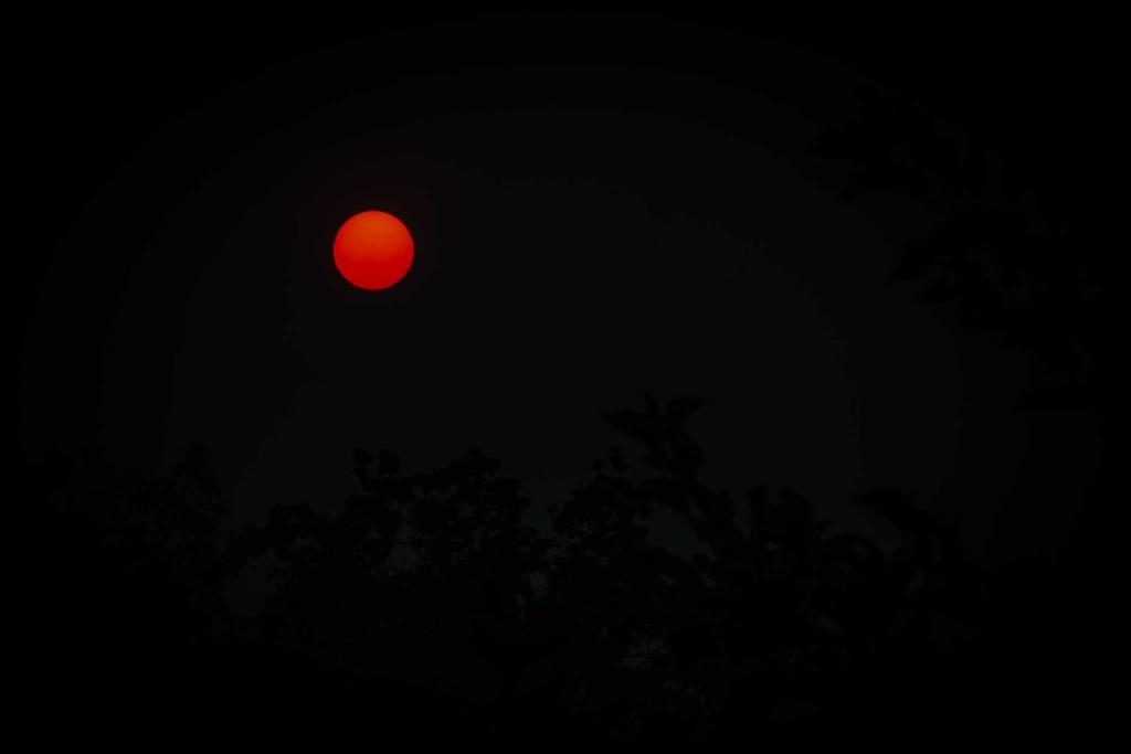 Bushfire sunset by pusspup
