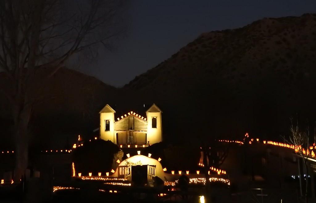 El Santuario de Chimayo Christmas Luminarias, New Mexico, USA by janeandcharlie