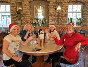 21st Dec 2019 - Here we are enjoying a glass of wine with our snowman!