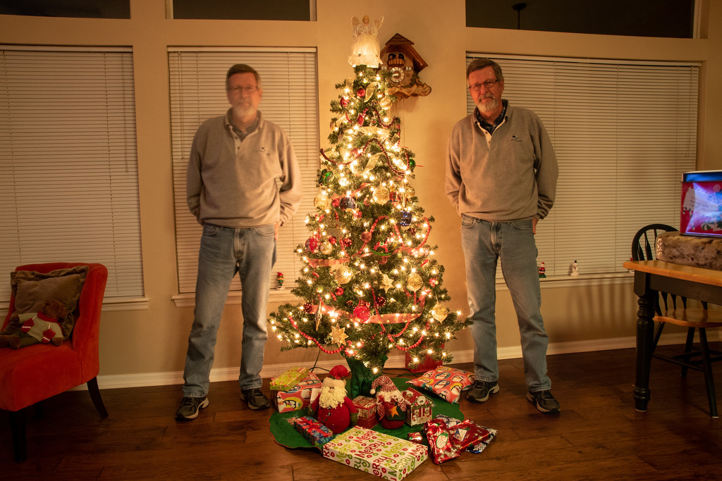 The Twins Wishiing You A Merry Christmas! by rickster549