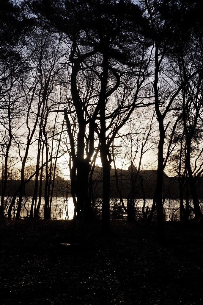 Soft shades over Paimpont Abbey & Lake by s4sayer