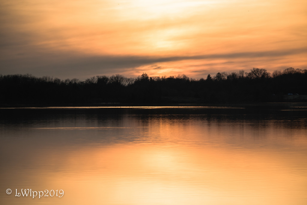 Sunset At The Lake by lesip