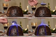 26th Dec 2019 - Flaming the Christmas Pudding