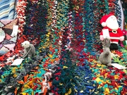 27th Dec 2019 - Rag rugs & a Father Christmas.