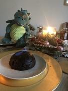 27th Dec 2019 - Edgar sets light to the Christmas Pud