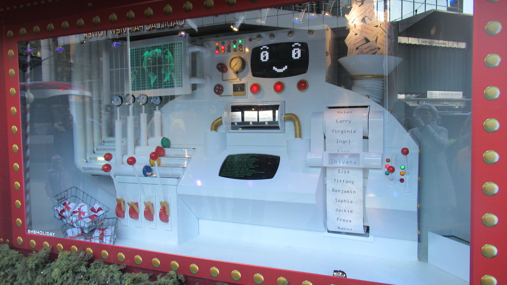 Santa's computerized letter sorting machine by bruni