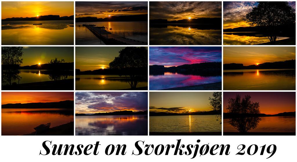 Sunset on Svorksjøen in 2019 by elisasaeter