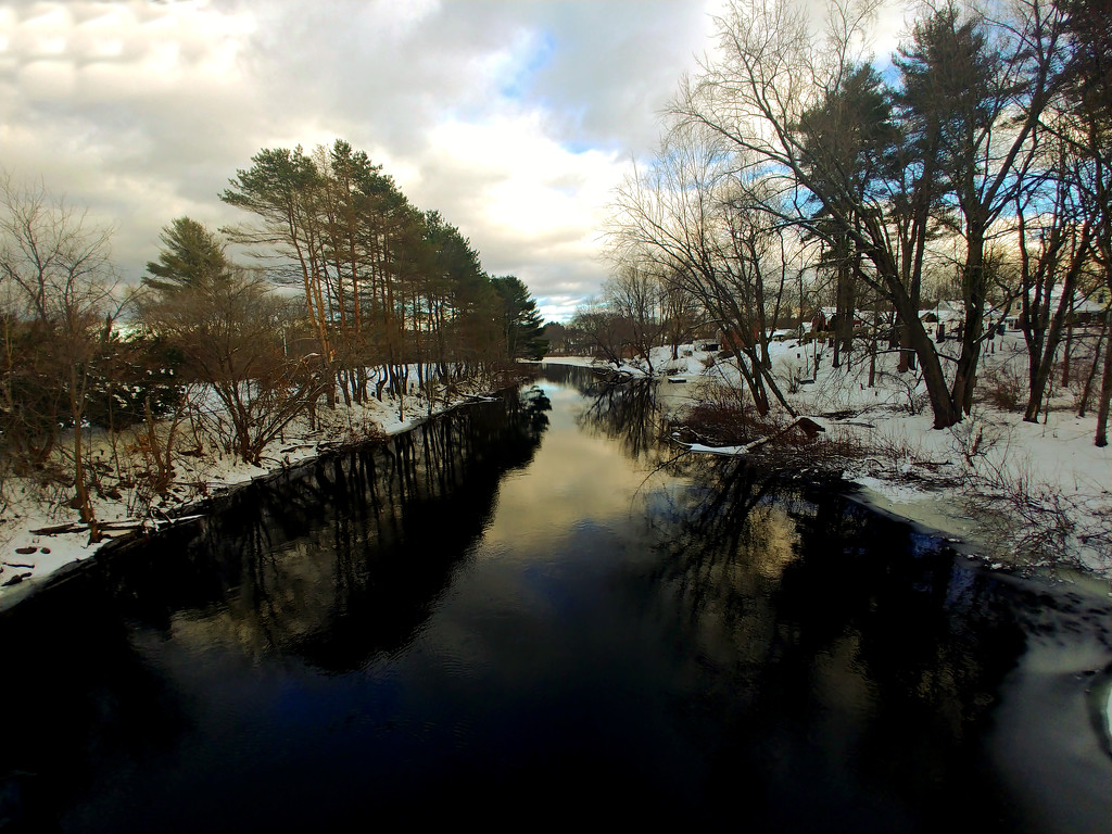 New Year Evergreen Waterway redux by kevin365
