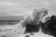 1st Jan 2020 - Big Surf and Clouds B and W
