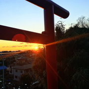 2nd Jan 2020 - 2020-01-02 Sunset from a shrine on a hill