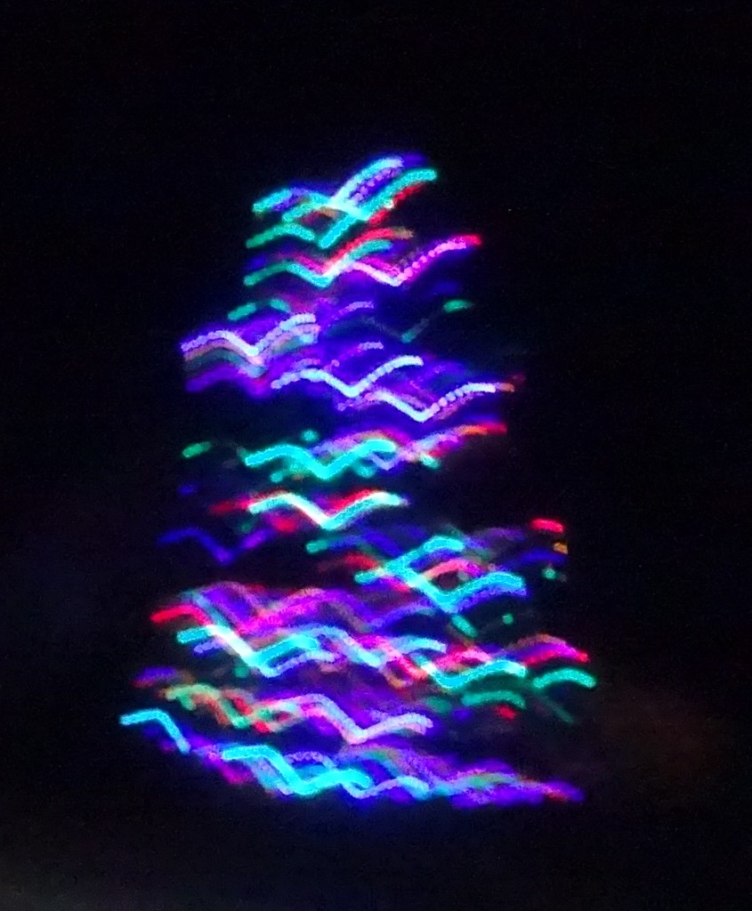 a flock of neon birds by anniesue