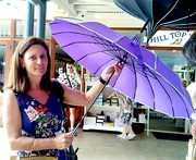 3rd Jan 2020 - Daughter no 2  Rachel with another of those exotic umbrellas.