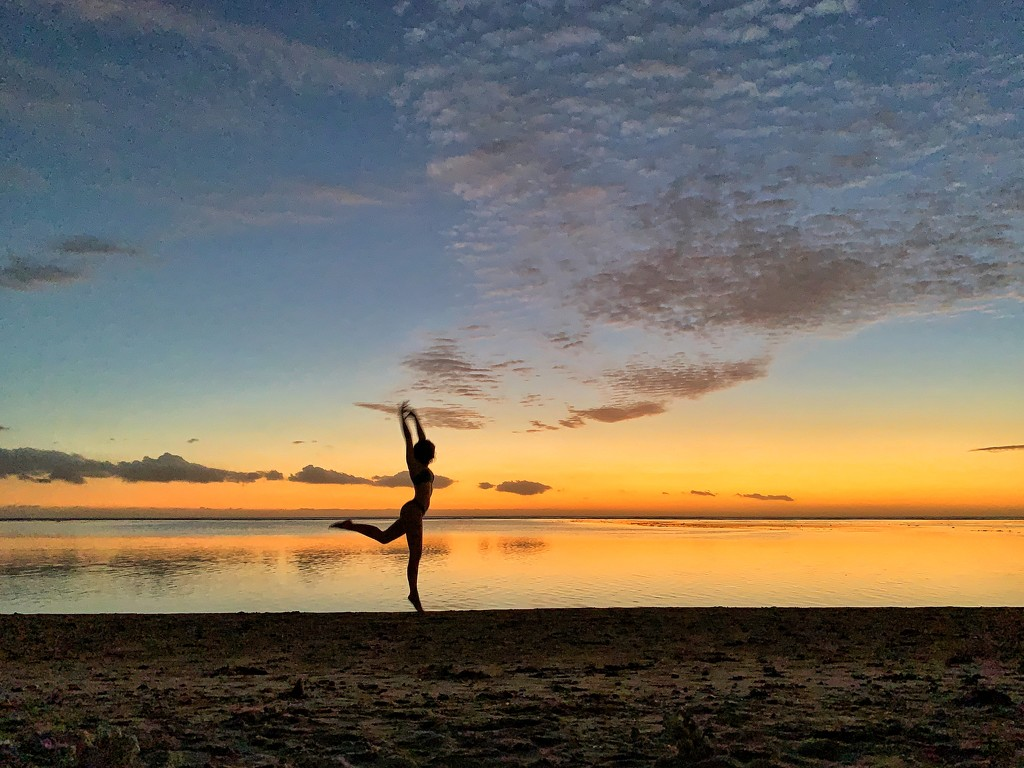 Ballerina in the sunset by cocobella