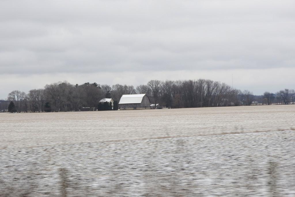 Winter barn by homeschoolmom