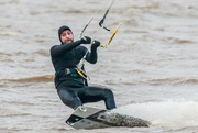 6th Jan 2020 - Kite surfer indicating he is turning!!