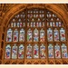Stained Glass Window Above The Altar,Sherborne Abbey