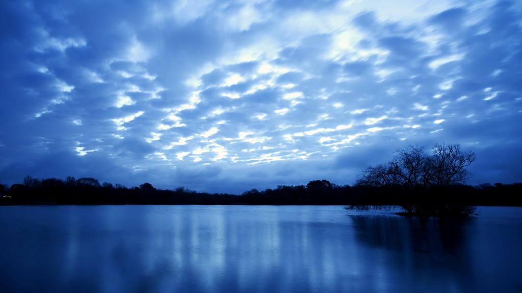 Mackerel sky  by moonbi