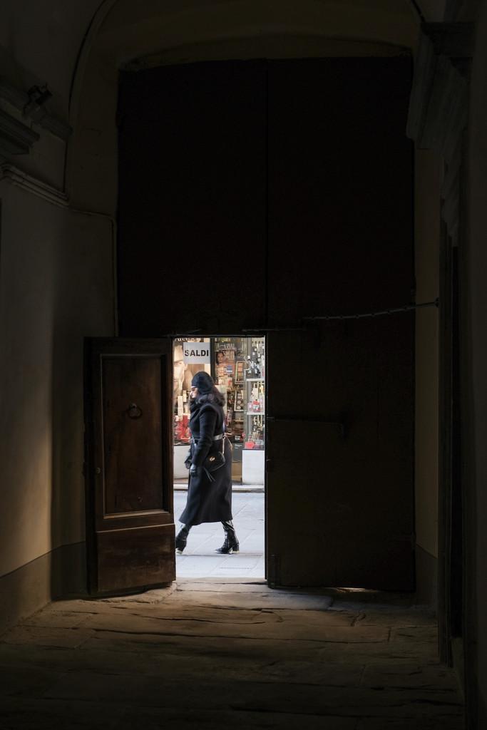 Peeking through the door by angelikavr