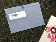 10th Jan 2020 - The infamous blue enveloppe ...