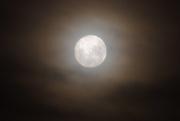 11th Jan 2020 - Cloud Hazed Moon - 10.52pm