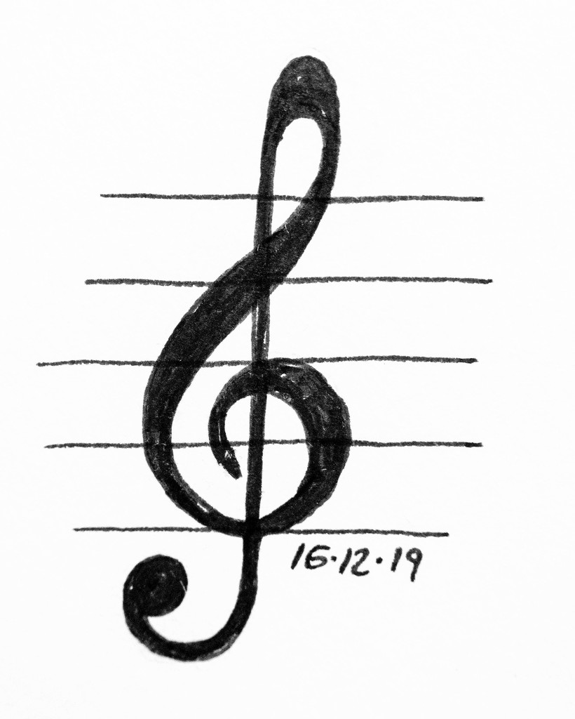 Treble Clef by harveyzone