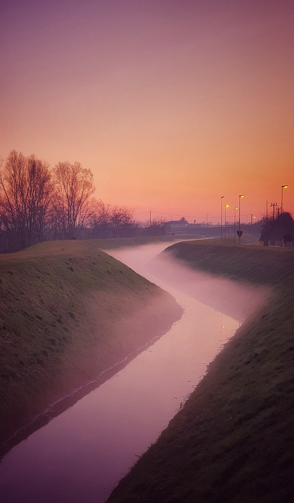 Misty canal by spectrum