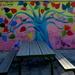 Wall art on school building