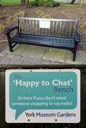 13th Jan 2020 - The 'Happy to Chat' Bench