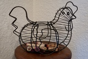 """16th Jan 2020 - My wire chicken basket for my """"Macro 2"""" reveal."""