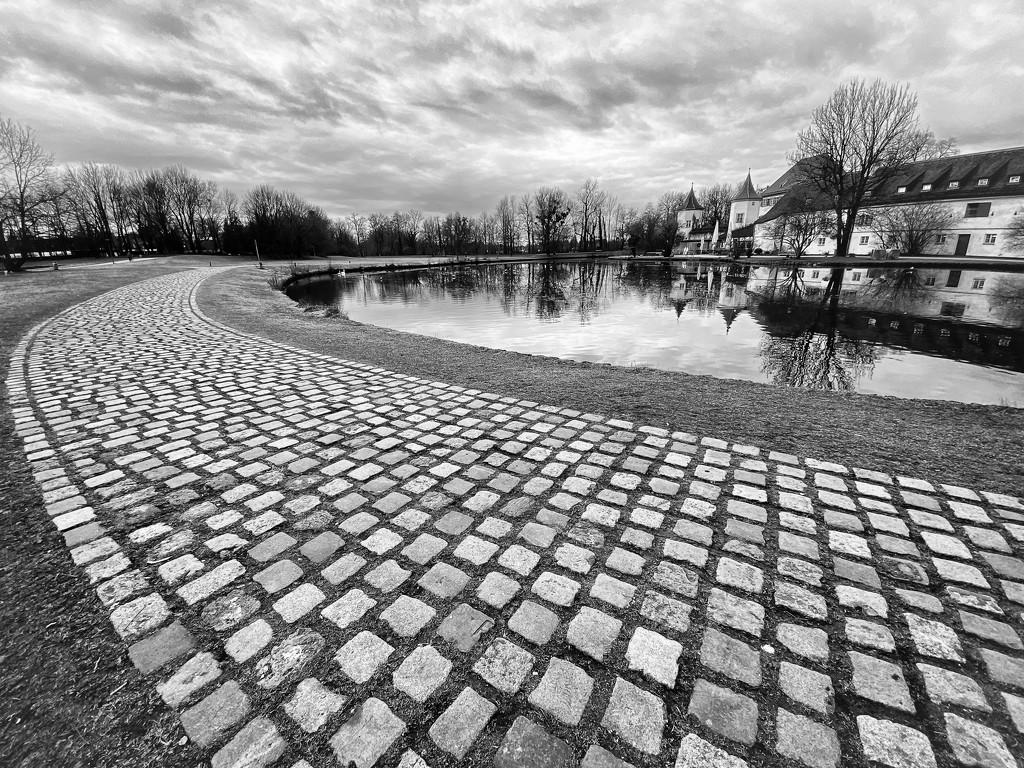 Cobblestones Surrounding Blutenburg by jyokota