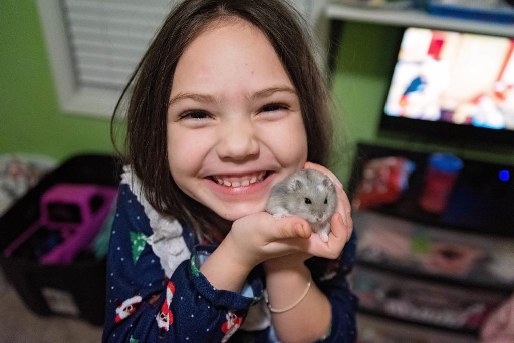 She loves her hamster by mistyhammond
