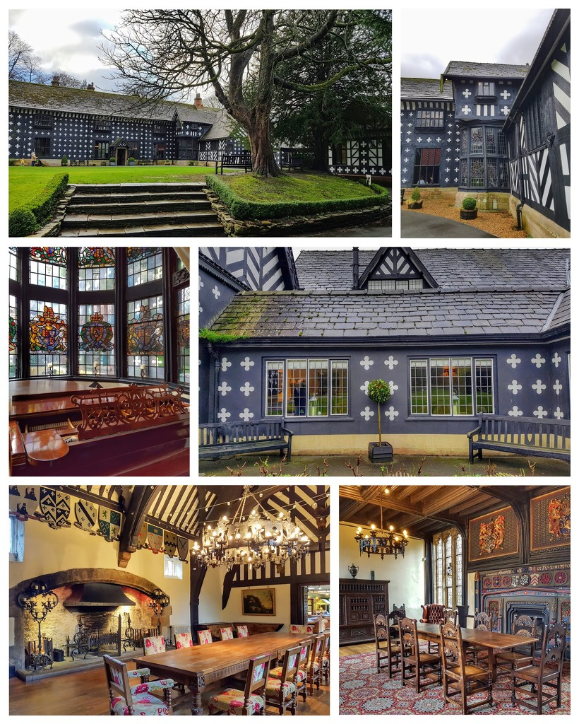 A collage of Samlesbury Hall  by lyndamcg