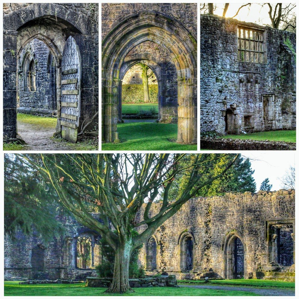 We've had a week of visiting historical buildings and ruins - this is Whalley Abbey by lyndamcg