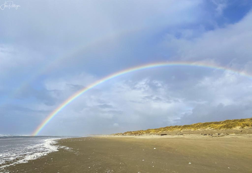 Rainbow At Waxmyrtle Beach by jgpittenger