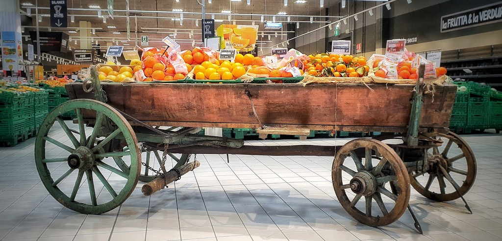 A cart full of oranges by spectrum