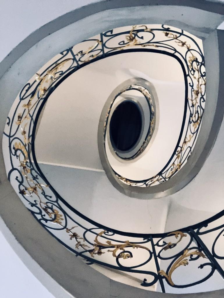 Art nouveau staircase by jacqbb