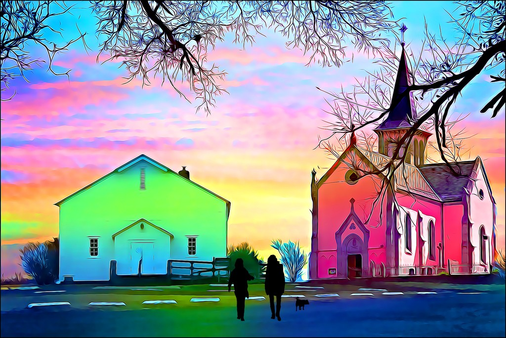 Taking Fido to Church by olivetreeann