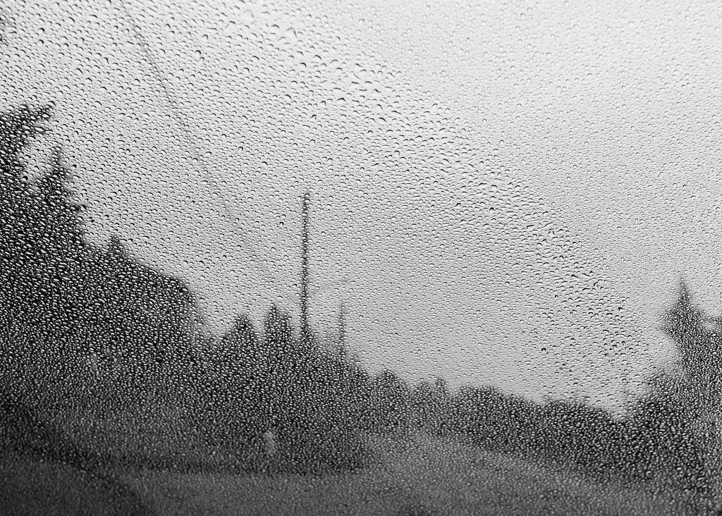 Rainy street pointillism by cristinaledesma33