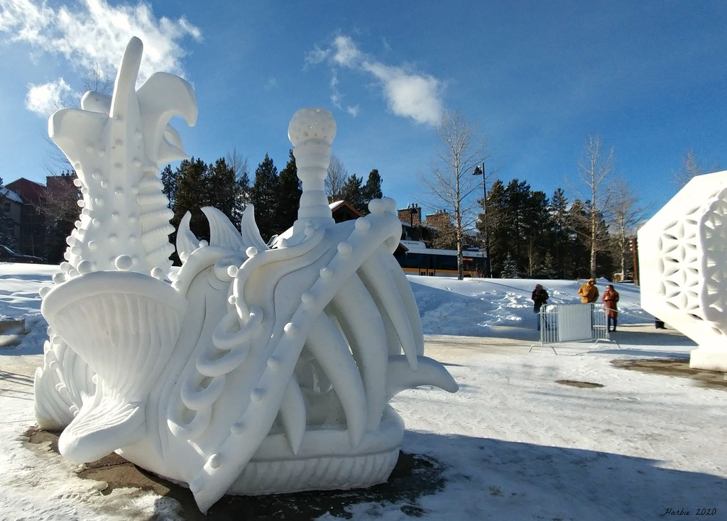 Finished Snow Fish Sculpture by harbie
