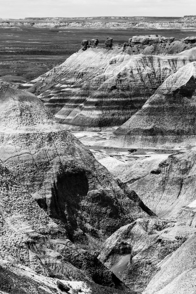 Black and White View of the Painted Desert by photograndma